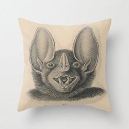 Vintage Happy Bat Throw Pillow