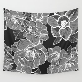 Brooklyn Botanic Garden, Black and White Wall Tapestry