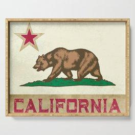 Vintage California Flag Serving Tray