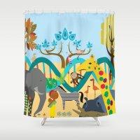 evolution Shower Curtains featuring Evolution by Design4u Studio