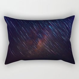 The Galaxy Rains (Color) Rectangular Pillow