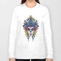 dia de los muertos Long Sleeve T-shirts featuring Dia de los Muertos by merci
