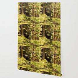 Woodland Landscape Nature Art Wallpaper