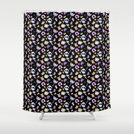 Star vs the Forces of Evil Pattern ( black ) Shower Curtain