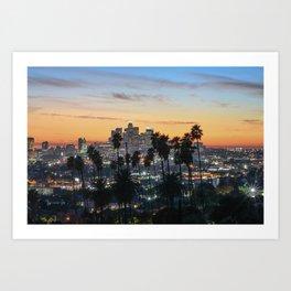 Los Angeles Palm Trees Art Print