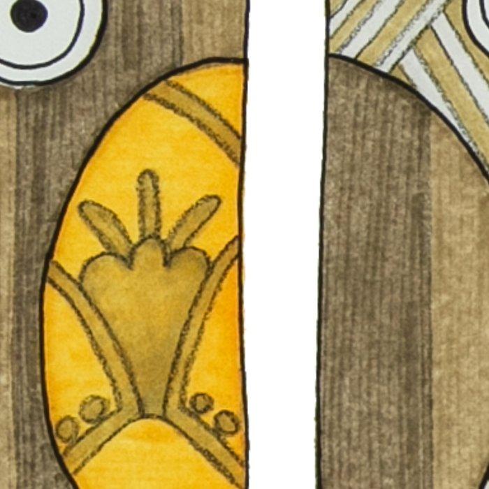 4 Gold Owls Leggings