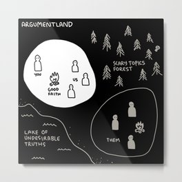 Argumentland Metal Print