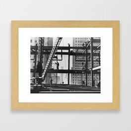 Steel workers New York City Framed Art Print