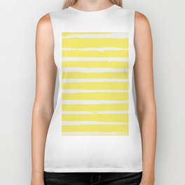 Irregular Stripes Yellow Biker Tank