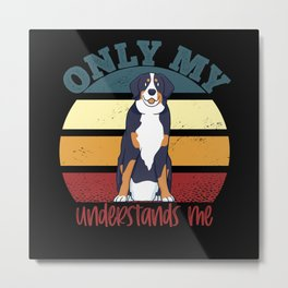 Only My Bernese Understands Me Metal Print