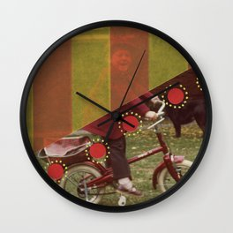 Red Happiness Wall Clock