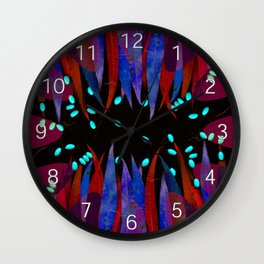Leaves psychodelica #2 Wall Clock