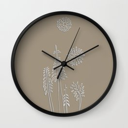 Forest Bathing - Taupe  Wall Clock