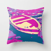 boat Throw Pillows featuring Boat by DistinctyDesign