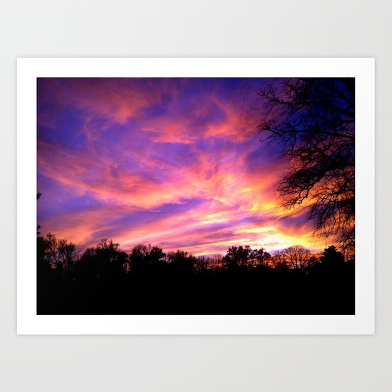 The Soft Edible Sky  Art Print