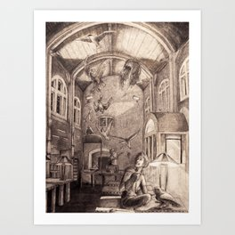 Aviary Library Art Print