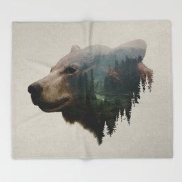 The Pacific Northwest Black Bear Throw Blanket