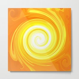 Sun Energy-Spiral No. 01 Metal Print