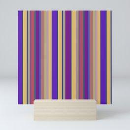awning stripe Mini Art Print