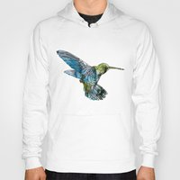 hummingbird Hoodies featuring Hummingbird by madbiffymorghulis