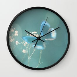 Fly butterfly fly Wall Clock