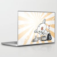 mew Laptop & iPad Skins featuring Robogato *beep* * beep* *mew* by Flightless Kiwis