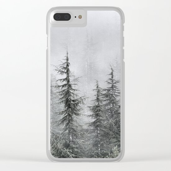 """""""Into The Foggy Woods"""" Wander. Yesterday at the mountains Clear iPhone Case"""
