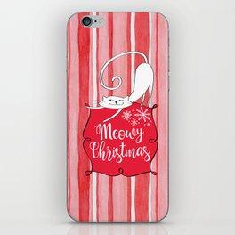 Meowy Christmas iPhone Skin