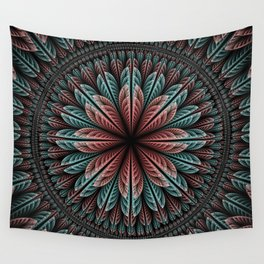 Fantasy flower and petals IV Wall Tapestry