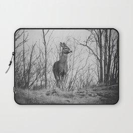 Deer II (black & white) Laptop Sleeve