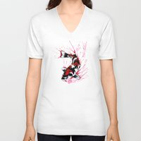 koi fish V-neck T-shirts featuring Koi by Puddingshades