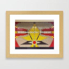 Berlin U-Bahn Memories - Wilmersdorfer Strasse Framed Art Print