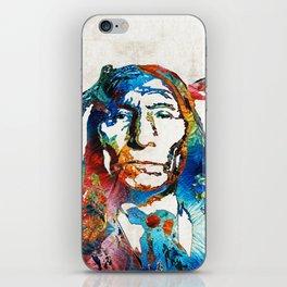 Native American Art - Warrior - By Sharon Cummings iPhone Skin