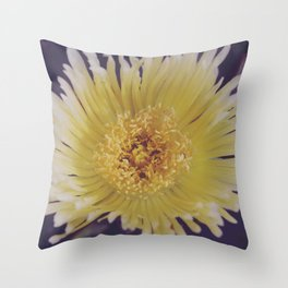 Buttery Botany Throw Pillow