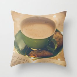 165 - Sunday morning Throw Pillow