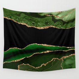 Emerald Marble Glamour Landscapes Wall Tapestry
