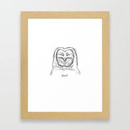 decaf Framed Art Print