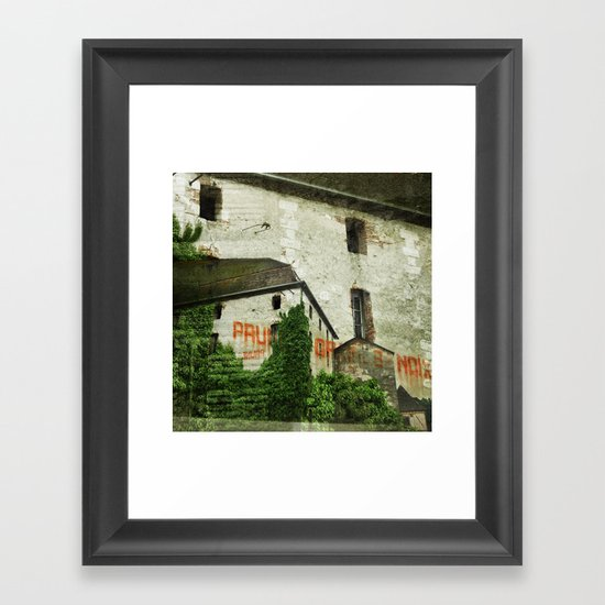Prunes Graines Noix Framed Art Print
