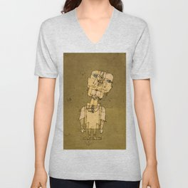 Ghost of a Genius, 1922 by Paul Klee Unisex V-Neck
