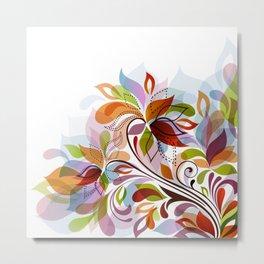 Abstract Floral Fantasy Metal Print