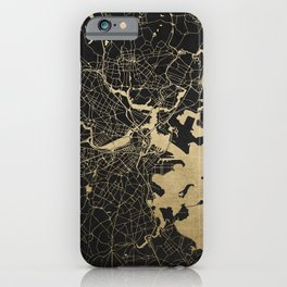 Boston Gold and Black Invert iPhone Case