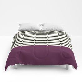 Plum x Stripes Comforters