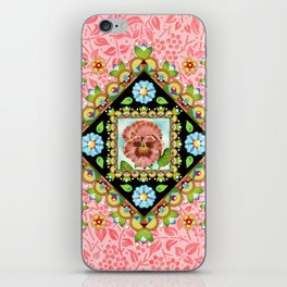 Pink Pansy Cottage iPhone Skin
