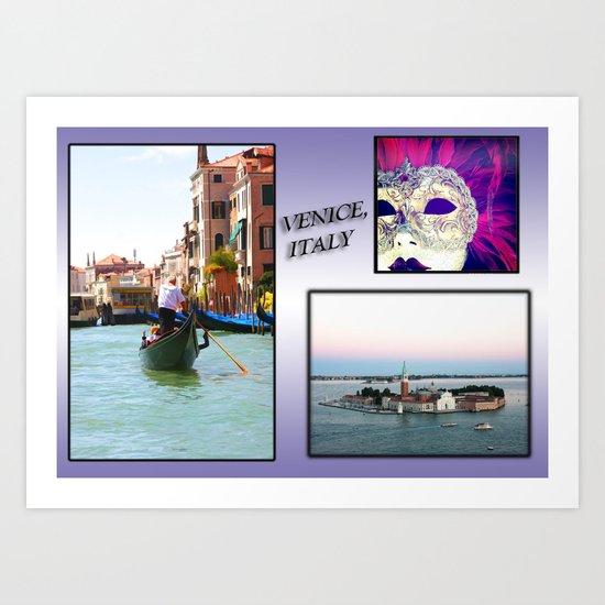 A Postcard Of Venice Art Print