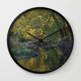 Where Canoes and Raccoons Go Series, No. 6 Wall Clock