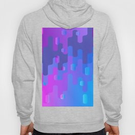 Purple Blue And Pink Liquid Type Abstract Design Hoody