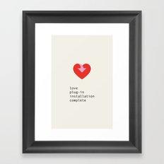 Love plug-in II Framed Art Print