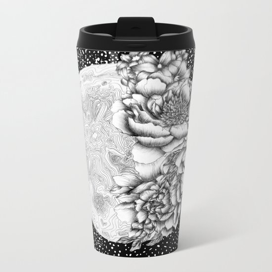 Moon Abloom Metal Travel Mug
