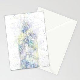 Modern Art BIG BEN   watercolor Stationery Cards
