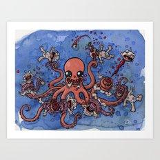 Octo Nom Art Print